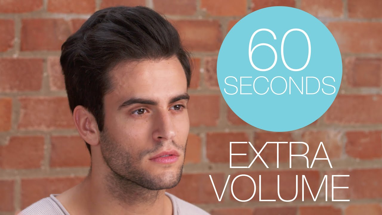 How to give your hair more volume for guys