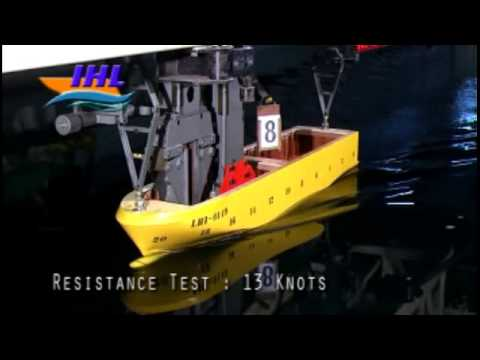 Ropax Ferry RV1500GT Resistance Test at Indonesia Hydrodynamic Laboratory
