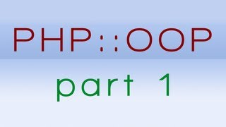 PHP OOP Tutorial - Part 1