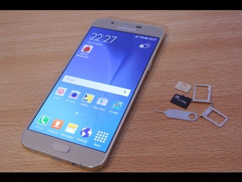 Samsung Galaxy A8 - How To Insert SIM Card & Micro SD Card Easily HD