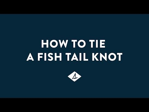 How To Tie A Sperry Fish Tail Knot