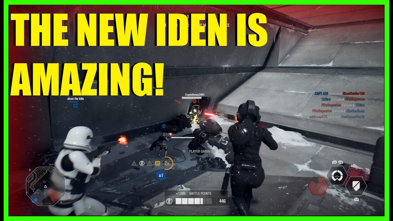 Star Wars Battlefront 2 - Post patch Iden is AMAZING! | New heal card!