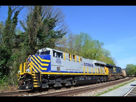 Railfanning in Harpers Ferry, West Virginia on April 12th, 2017