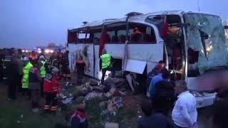 Ankara-Aksaray Yolunda Otobüs Kazası! Ölü ve Yaralılar Var