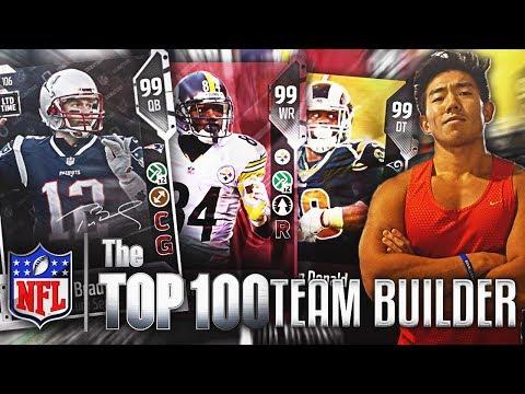 NFL TOP 100 TEAM BUILDER! SUPERSTARS EVERYWHERE! Madden 18 Ultimate Team!