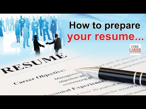 First Step Of Job Preparation Resume