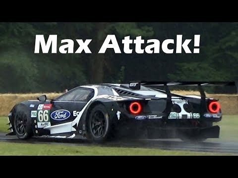 Ford GT LM GTE FLATOUT Hillclimb Attack! Great Sounds!