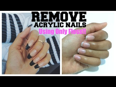 How to take off fake nails that are glued on without acetone