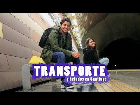 TRANSPORTE EN SANTIAGO - Metro, micro, taxi y uber para comer 1 helado!