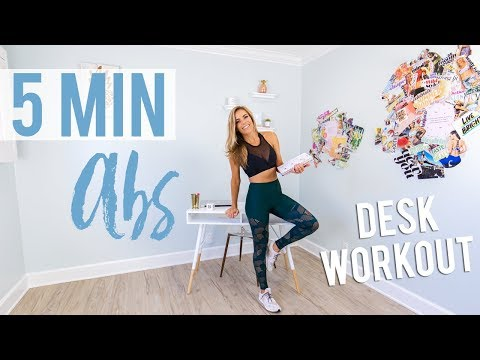 5 Minute Abs Desk Workout | Exercises For a Flat Belly