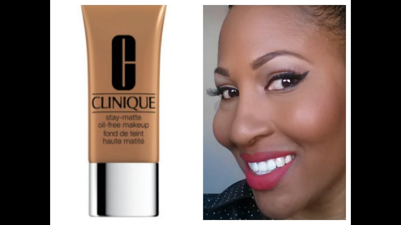 Clinique Stay Matte Oil Free Foundation 1st Impression Youtube