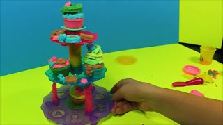 Play-Doh Cupcake Tower Sweet Shoppe | How To Make Cupcakes!