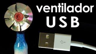 Como fazer um ventilador USB (mini ventilador caseiro) (EXPERIÊNCIA + artesanato)