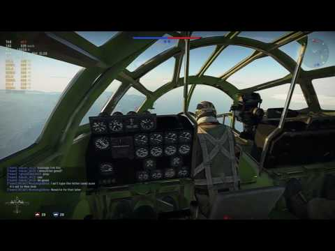 B-29 Bomber Cockpit First Attempt Realistic Gameplay - War Thunder