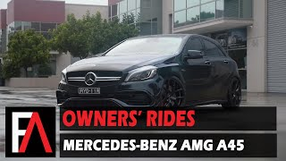 FUEL AUTOTEK Owners' Rides: 2017 Mercedes-Benz AMG A45 | MOMO RF-01 Stardust Glossy Black