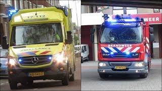 24-4-2017 || Tankautospuit 17-3431 en ambulance 17-112 met spoed naar een reanimatie.
