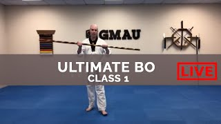 GMAU Ultimate Bo LIVE - Class #1 (Traditional & Combat Techs + Kick Integrations)