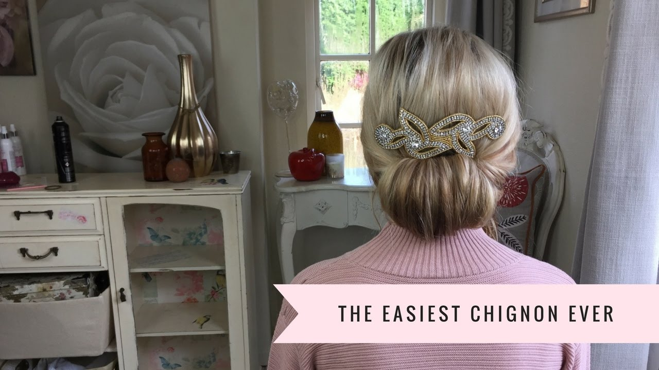 pics How to Make a Chic Chignon in 6 Easy Steps