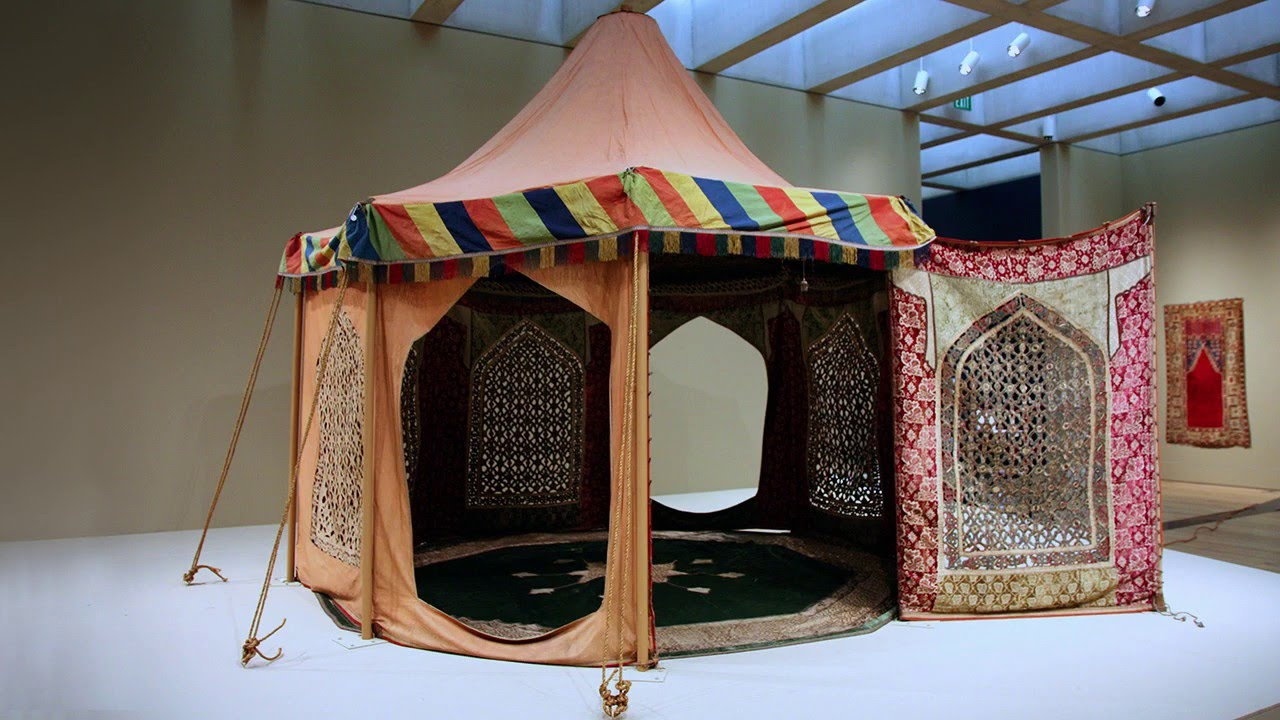 Installing a Persian Pleasure Tent in The Carpet and the