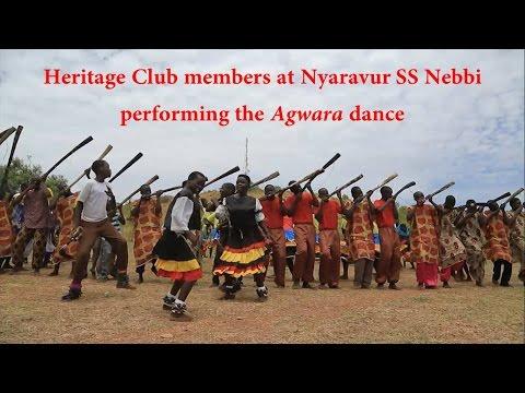 """Heritage Club members at Nyaravur SS performing """"Agwara"""" dance"""