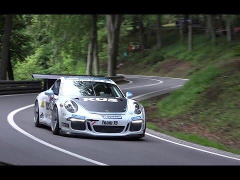 Bergrennen Glasbach 2016 Porsche Spezial Timo Bernhard gegen Nicolas Werver und Herbert Pregartner
