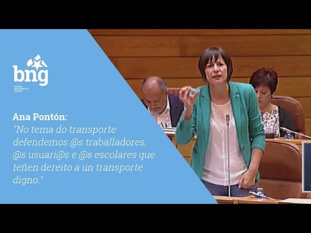 No tema do transporte defendemos @s traballadores, @s usuari@s e @s escolares