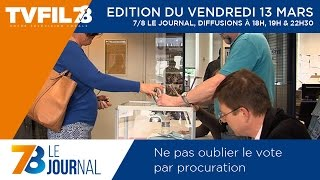 7/8 Le Journal – Edition du vendredi 13 mars 2015