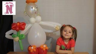 Шарики и дети Ангел из шаров шдм Фигуры из шаров Angel of the balloons