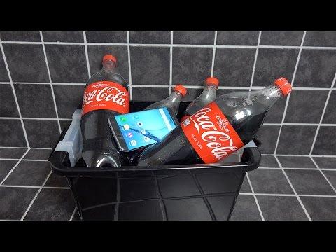 Samsung Galaxy S7 Edge EXTREME 4 Coca-Cola Bottles Shake Test - Will It Survive?