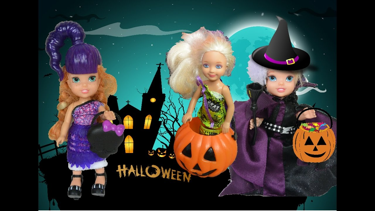 Anna And Elsa Toddlers Trick Or Treating Halloween Haunted House