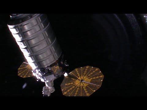 Cygnus OA-6 arrival HD higlights