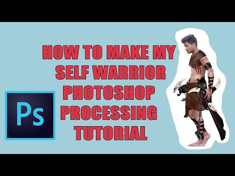 How to make warrior modeling in Photoshop tutorial