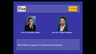 The English Language: A Linguistic Introduction (MOOC)