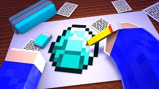 ICH MALE EINEN DIAMANT IN MINECRAFT!