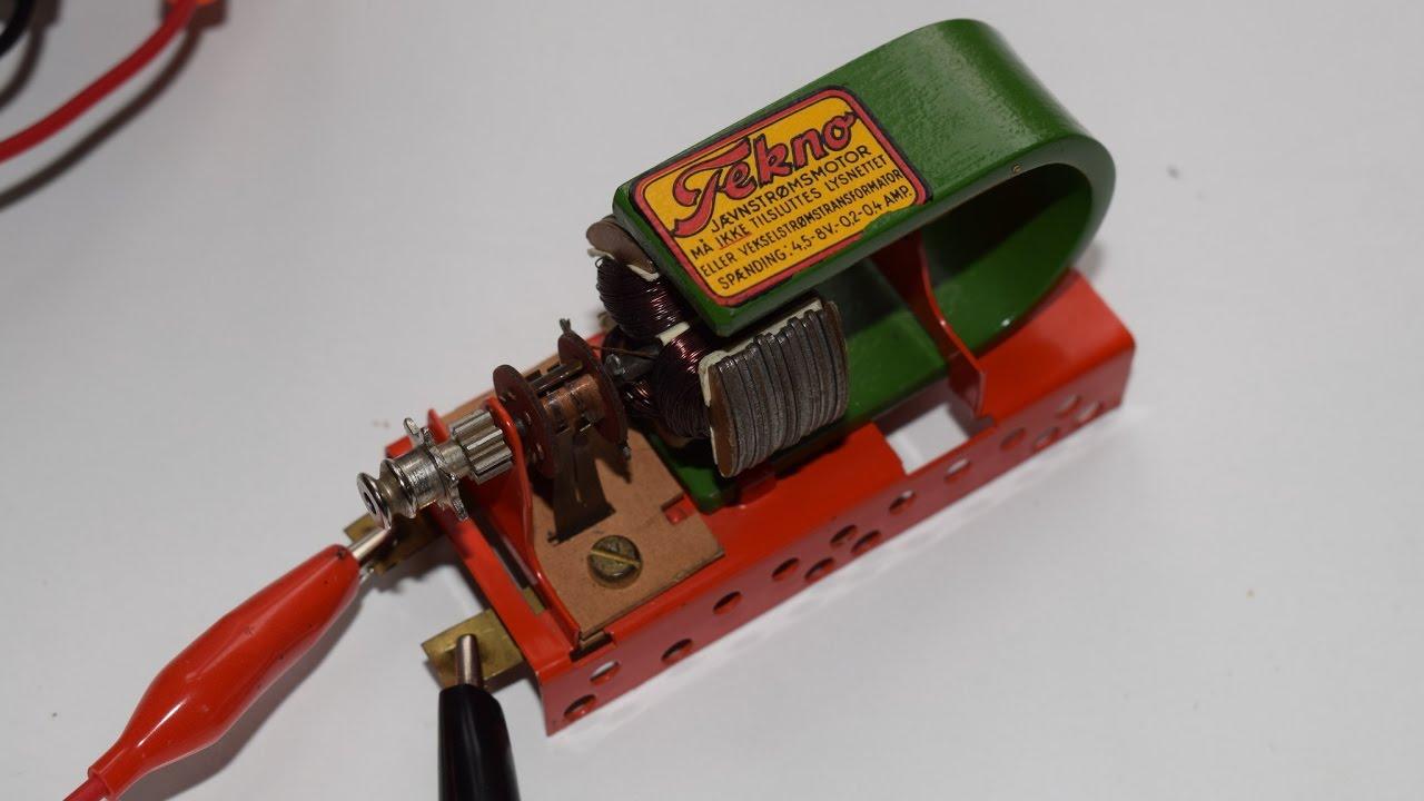 Se Tekno motor køre rundt, sådan virker en el-motor