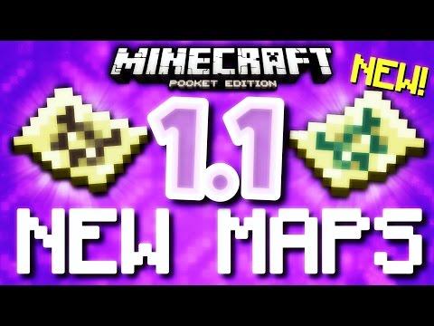 MCPE 1.1 - NEW MAPS & MORE! (Minecraft Pocket Edition 1.1)