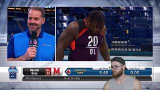 Rugby Player Reacts to 2019 NFL Combine OFFENSIVE LINEMEN Running The 40 YARD DASH!