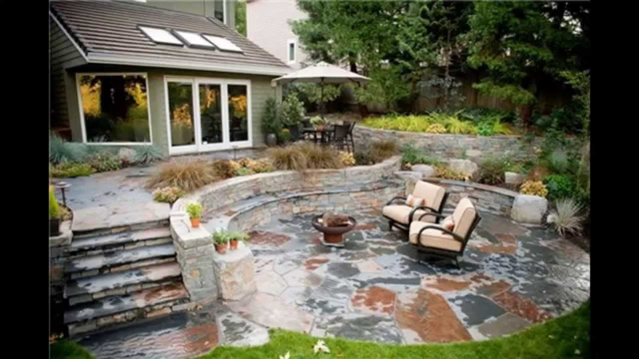 Stone patio ideas - YouTube on Backyard Masonry Ideas id=17599
