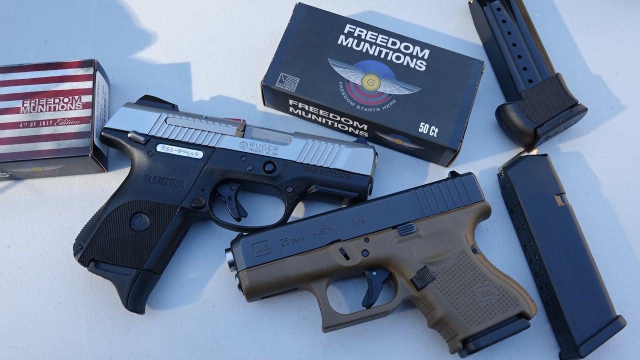 Glock 26 Gen 4 vs Ruger SR9c