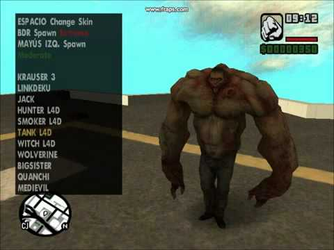 gta san andreas skin selector ps2