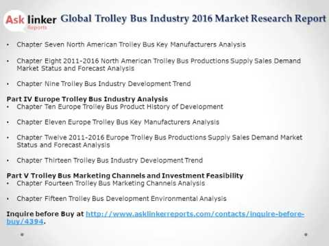 Global Trolley Bus Market 2016-2020 Report