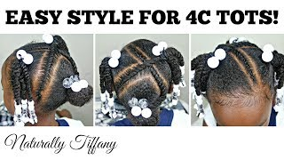 Quick Easy Style For Tots | Type 4 Hair | Kids Natural Hair Care