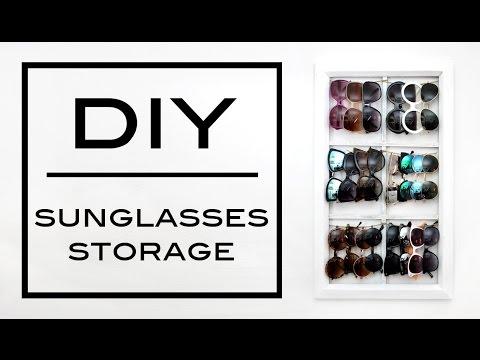 DIY: Sunglasses Storage/Display | Jess Lemos