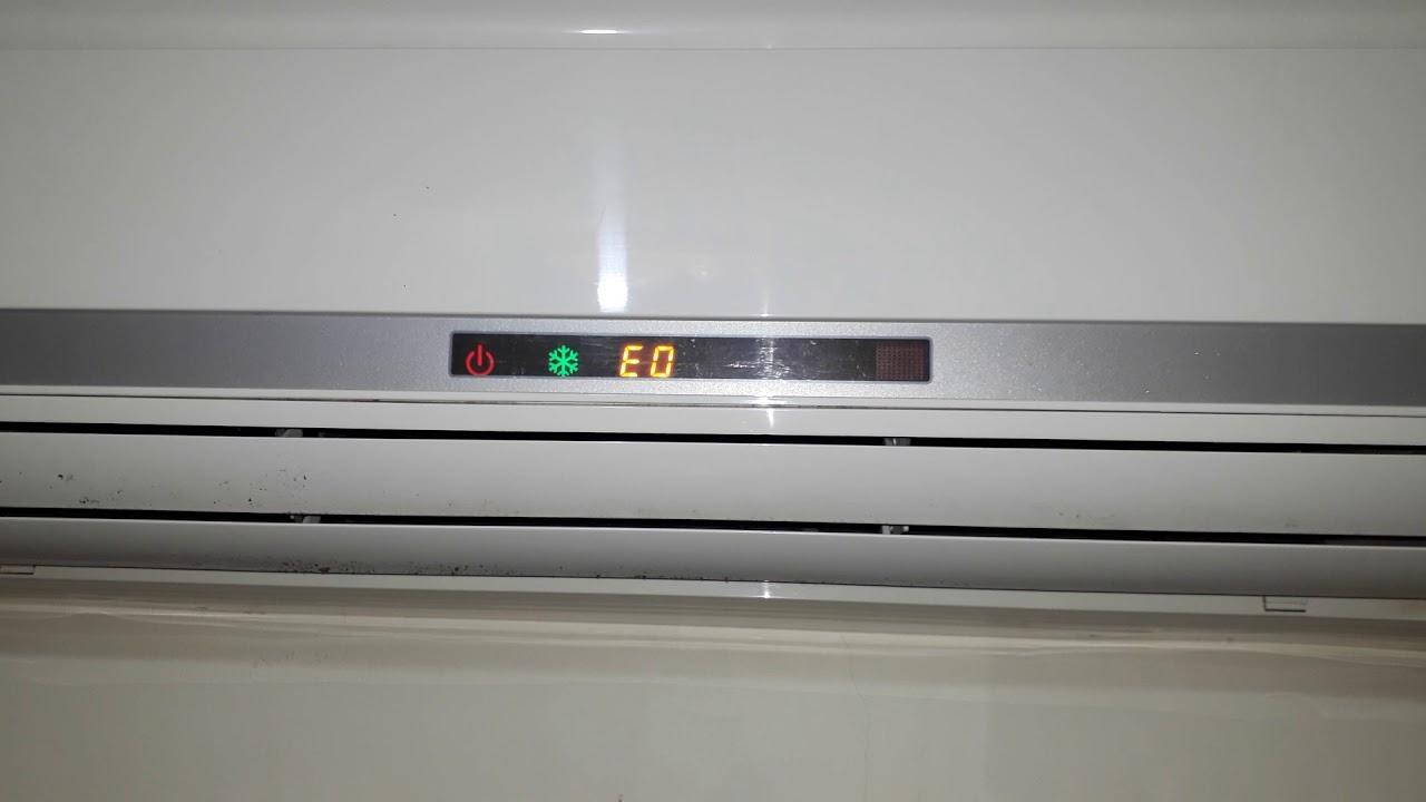 分離式冷氣故障代碼顯示eo - YouTube
