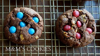 M&M 초코쿠키(발렌타인데이 선물용) 만들기 (m&m's cookies recipe/m&m's クッキーの作り方)