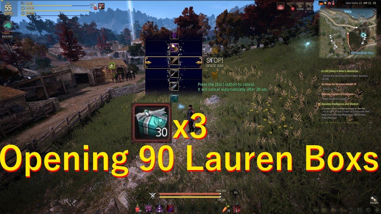 Black Desert Online - Lauren box event GO![NA] - YouTube