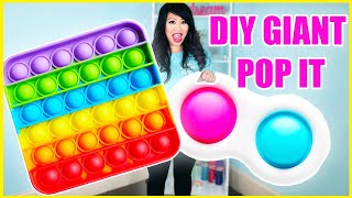 How to make DIY Giant Fidget Pop It that actually works!