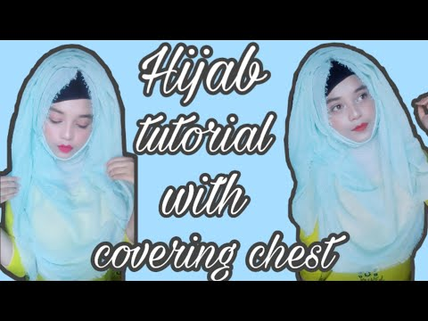 Hijab tutorial with covering chest...❤ thumbnail