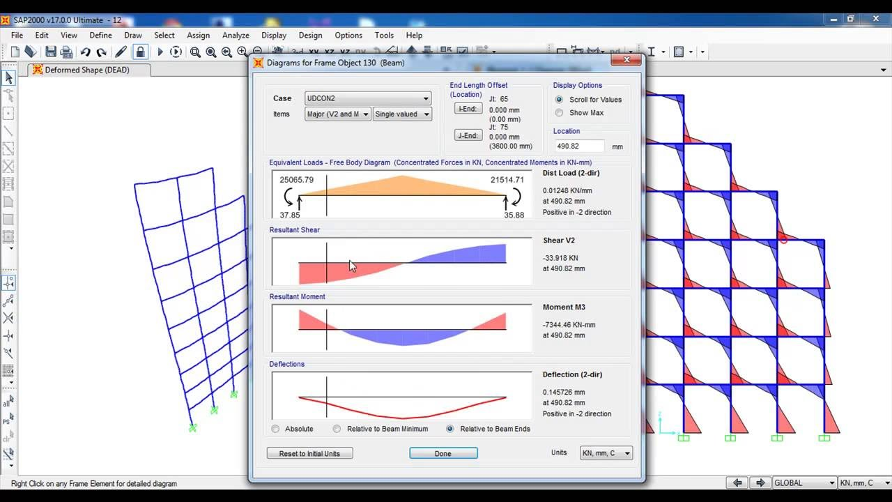 Sap2000 2d Frame Tutorial Civil Engineering Youtube Cantilever Beam Moment Diagram Coloring Pages