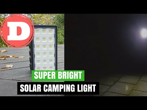 Super Bright Camping Light 3 in 1, Solar Panel, LED and Powerbank